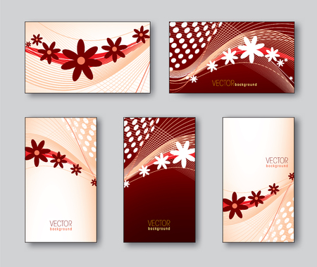 Vector Collection of Business Cards or Gift Cards. Illustration