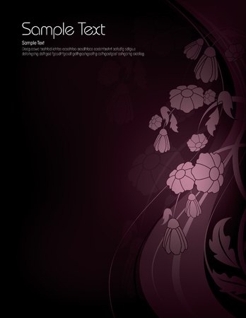 purple flowers: Dark Floral Background with Shiny Purple Flowers.