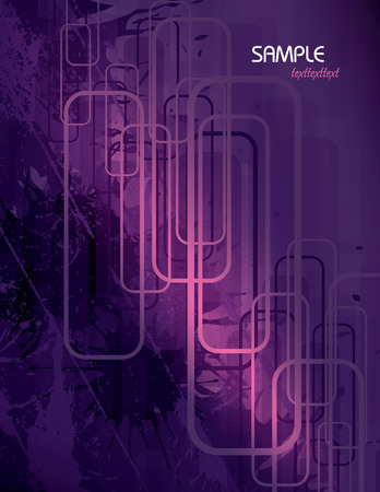 background purple: Vector Purple Abstract Background. Illustration