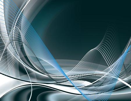 waves abstract: Abstract Vector Background. Illustration
