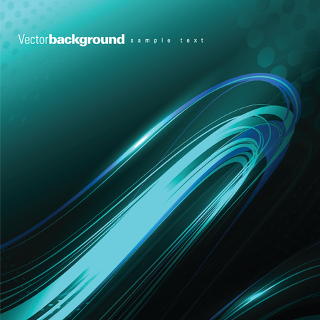 shiny background: Abstract Shiny Background. Turquoise Wavy Illustration.