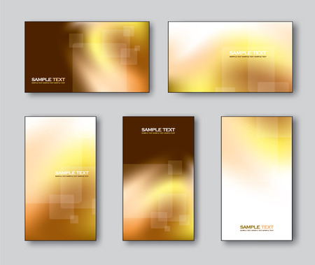 gold silver: Vector Collection of Business Cards or Gift Cards. Illustration