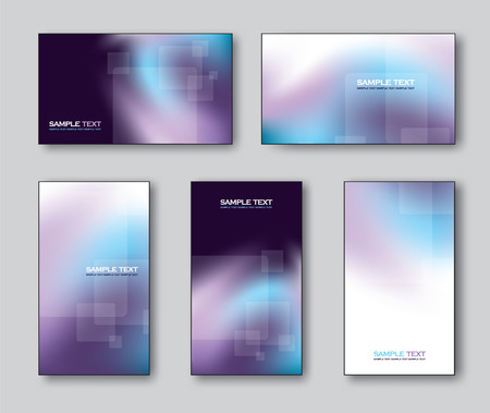 silver backgrounds: Vector Collection of Business Cards or Gift Cards. Illustration