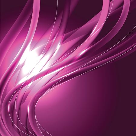 Fondo brillante abstracto. Ilustración brillante de color rosa. Ilustración de vector