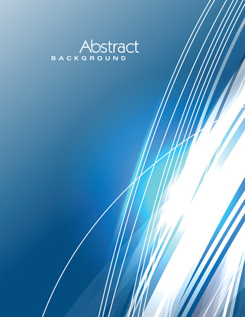 sparkly: Vector Wavy Blue Background. Abstract Sparkly Illustration.