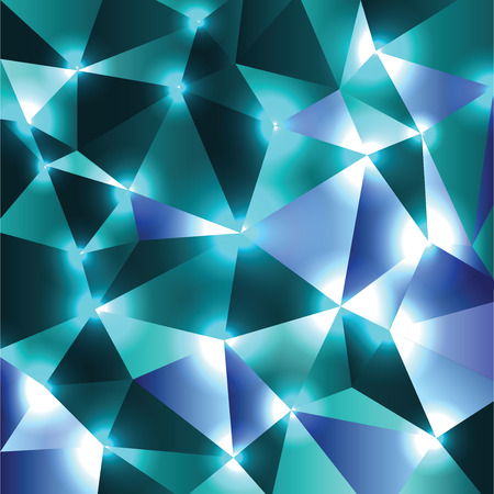 sparkly: Abstract Shiny Background. Turquoise Sparkly Geometric Illustration.