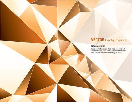 glass reflection: Abstract Vector Geometric Background. Orange Illustration. Illustration