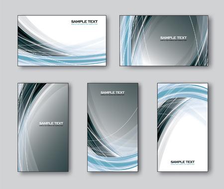 Vector Templates for Business Card. Vektorové ilustrace