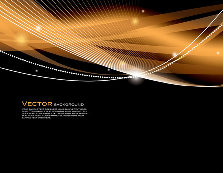 Abstract Vector Background. Orange Shiny Illustration.