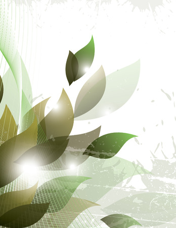 Abstract Vector Background. Grün Glänzend Illustration.