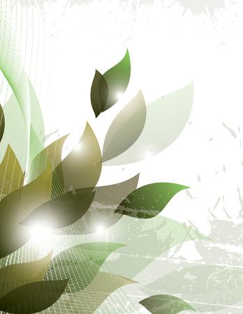 Vector de fondo abstracto. Ilustración verde brillante.