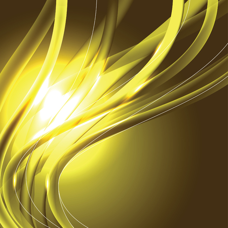 Abstract Vector Background. Yellow Shiny Illustration.