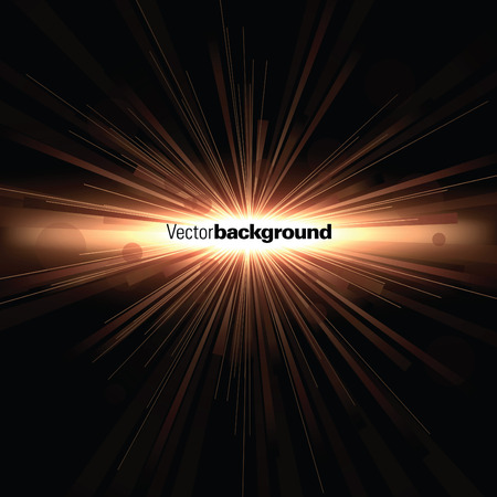 Abstract Vector Background. Brown Explosion. Vettoriali