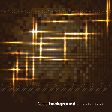 Abstract Vector Background. Brown Shiny Illustration.