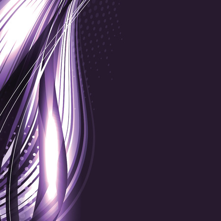 Abstract Vector Background. Purple Shiny Illustration. Vettoriali