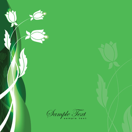 Abstract Vector Floral Background. Çizim