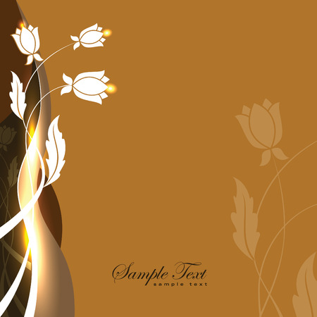 Abstract Vector Floral Background. Zdjęcie Seryjne - 60647737