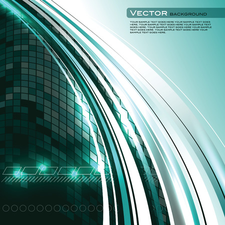 Abstract Vector Background. Turquoise Shiny Illustration.