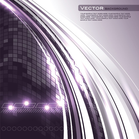 Abstract Vector Background. Purple Shiny Illustration. Çizim