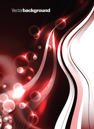 black star: Abstract Vector Background. Red Shiny Illustration.