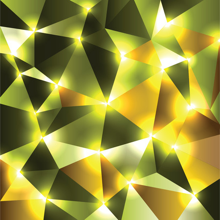 Abstract Vector Background. Green Geometric Shiny Illustration.