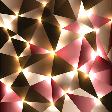 Abstract Vector Background. Brown Geometric Shiny Illustration.