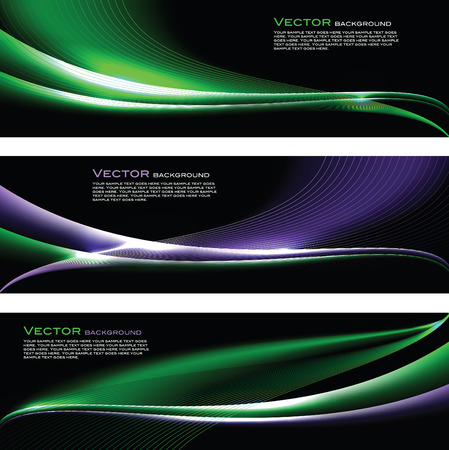 wave hello: Abstract Vector Shiny Banners. Illustration