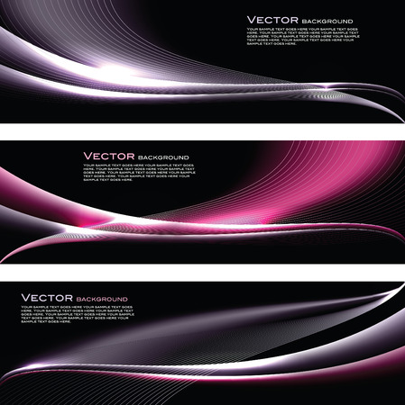 Abstract Vector Shiny Banners. Vettoriali