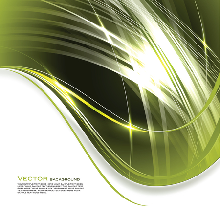 Abstract Vector Background. Green Shiny Illustration. Vettoriali