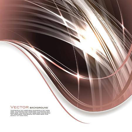 brown background: Abstract Vector Background. Brown Shiny Illustration.