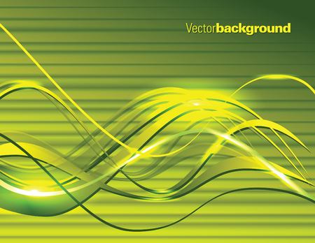 Abstract Vector Background. Green Shiny Illustration. Çizim