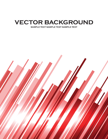Abstract Vector Background. Red Illustration of Shiny Stripes.