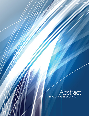 Abstract Vector Background. Blue Shiny Illustration.