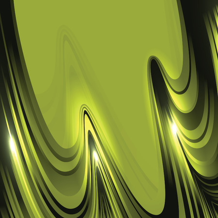 Abstract Vector Background. Green Wavy Illustration.