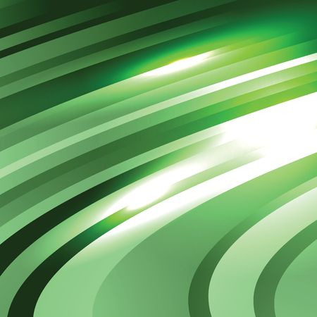 background green: Abstract Vector Background. Green Wavy Illustration.