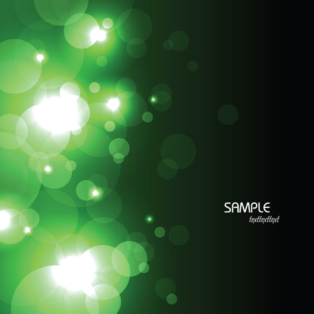 Abstract Vector Background. Black and Green Illustration.