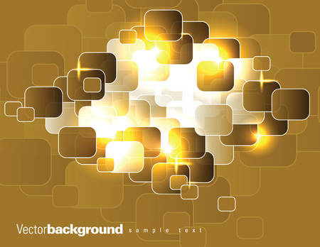 Abstract Vector Background. Orange Illustration.