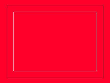 Black thin rectangular frame on the white background. Stock fotó