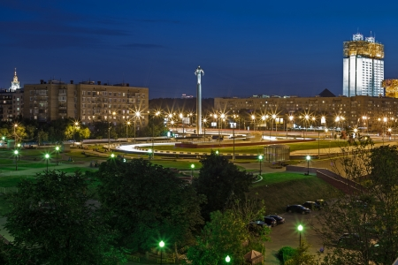 sights of moscow: City square at night