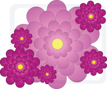 Bright flowers for a celebratory card