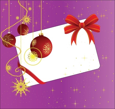 New Years card with red spheres