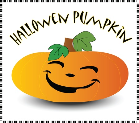 Orange pumpkin with a beautiful smile