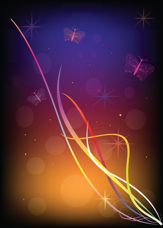 shone: Abstract background. Shone lines on a black background