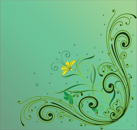 Green card with a flower