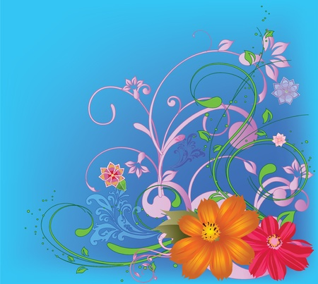 beautiful card with flowers