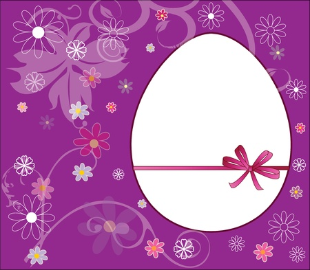 Easter egg with beautiful flowers Illustration