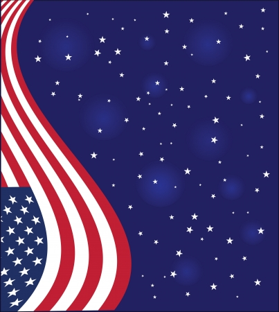 dark blue card with the American flag