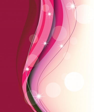 beautiful pink lines on a light background