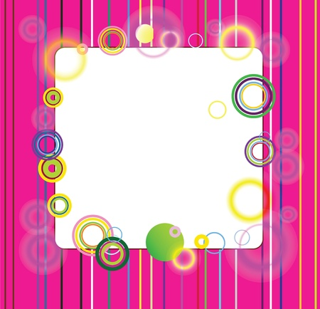 picture with multi-colored strips and beautiful circles Illustration