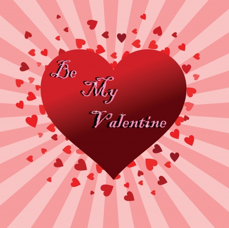 beautiful card with big heart by St. Valentines Day